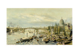Southwark Bridge from London Bridge Giclee Print by William Parrott