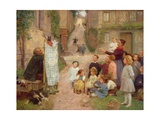 The Puppet Show Giclee Print by Victor Gabriel Gilbert