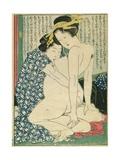 Lesbian Lovers, from 'Manpoku Wago-Jin', 1821 Giclee Print by Katsushika Hokusai