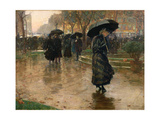 Rain Storm, Union Square, 1890 Giclee Print by Childe Hassam