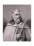 Clotaire or Chlotar II (D.629) King of the Franks, Engraved by Weber Giclee Print by Raymond Quinsac Monvoisin
