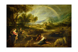 Landscape with a Rainbow Giclee Print by Peter Paul Rubens