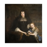 Lady Mary Bagot and Her Granddaughter Mary Giclee Print by John Michael Wright