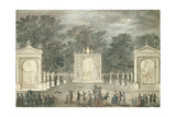 The Illuminations at Buckingham House for King George III's Birthday, June 4th 1783 Giclee Print by Robert Adam