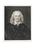 Portrait of Thomas Hobbes (1588-1679) Engraved by James Posselwhite (1798-1884) Pub. by William… Giclee Print by William Dobson