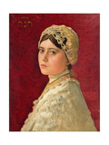 Portrait of the Artist's Daughter, Hannah Giclee Print by Isidor Kaufmann