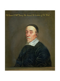 Portrait of William Harvey (1578-1657) Giclee Print by John Riley