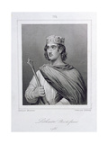 Lothair (941-986) King of France, Engraved by Delannoy Giclee Print by Raymond Quinsac Monvoisin