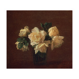 Yellow Roses Giclee Print by Henri Fantin-Latour