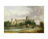 Windsor Castle: from the Thames Giclée-Druck von Alfred Vickers