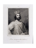 Louis VII the 'Younger' King of France (C.1120-80) Engraved by Pannier Giclee Print by Henri Decaisne
