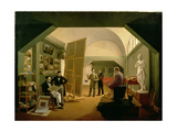 The Studio of Petr Vasilevich Basin (1793-1877) 1833 Giclee Print by Kapiton Alekseevich Zelentsov