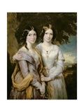 Annabella, Lady Lamington and Frederica, Countess of Scarbrough, Daughters of Andrew Robert… Giclee Print by Sir Francis Grant