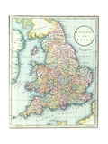 Map of England and Wales, 1852, from R.H. Laurie's Atlas Giclee Print