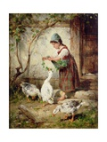 The Goose Girl Giclee Print by Antonio Montemezzano