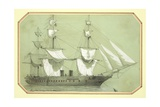 The 'Warrior', the First British Iron Warship, Commissioned by the Government in 1859 and at Sea… Giclee Print by William Mcconnell