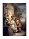Jacob Presented with Joseph's Coat Giclee Print by Balthasar Beschey