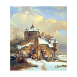 Dutch Winter Scene Giclee Print by Cornelis Kruseman