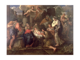 The Adoration of the Shepherds Giclee Print by Giovanni Francesco Romanelli