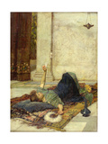 The White Feather Fan, 1879 Giclee Print by John William Waterhouse