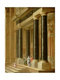 Elegant Company on the Steps of a Classical Building, 1656 Giclee Print by Dirck Van Delen