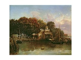 The United States Barge Office Giclee Print by Regis Francis Gignoux