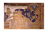 Wall Painting of the God Vishnu Resting on a Snake Giclee Print