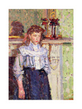 Girl by a Mantelpiece Giclee Print by Harold Gilman