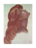 Study for the Head of the Left-Hand Figure from 'Astarte Syriaca', 1875 Giclee Print by Dante Charles Gabriel Rossetti