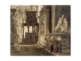 Chapel of St. John the Evangelist, Plate 46 from 'Westminster Abbey', Engraved by Lewis, Pub. by… Giclee Print by Frederick Mackenzie