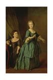Portrait of Feodosia Rzhevskaya (1760-95) and Nastasia Davydova (B.1764) 1772 Giclee Print by Dmitri Grigor'evich Levitsky