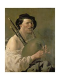 A Man Playing the Bagpipes, 17th Century Giclee Print by Hendrick Terbrugghen