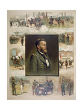 Grant from West Point to Appomattox, 1885 Giclee Print by Thure De Thulstrup