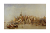 Billingsgate, First Day of Oysters, Early Morning, 1843 Giclee Print by Edward Duncan