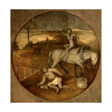 Ploughman Unhorsed by a Demon Giclee Print by Hieronymus Bosch