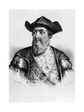 T.1556 Portrait of Vasco Da Gama (1469-1524) Printed by Alfred Leon Lemercier, 1837 Giclee Print by Antoine Maurin