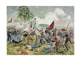 Pickett's Charge, Battle of Gettysburg in 1863 Giclee Print by Charles Prosper Sainton