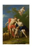 Venus and Adonis Giclée-tryk af Jacopo Amigoni