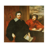 Thomas Wentworth, Earl of Strafford (1593-1641) and His Secretary, Sir Philip Mainwaring… Giclee Print by Sir Anthony van Dyck