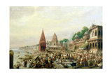 A View of Dasaswanadh Ghat, Benares, During the Dassera Festival Giclee Print by William Prinsep
