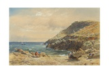 Landscape on the Cornish Coast Giclee Print by John Mogford