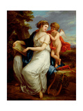 Erato, the Muse of Lyric Poetry with a Putto Giclee Print by Angelica Kauffmann