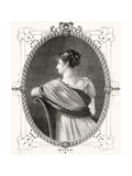 Portrait of Madame Recamier (1777-1849) Engraved by Antoine Auguste Ernest Hebert (1817-1908) Giclee Print by Eugene Joseph Viollat