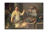 A Baker Preparing Pies Giclee Print by Bartolomeo Passaroti