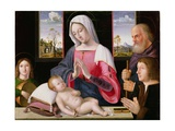 Virgin and Child with St. Joseph and Donor, 1514 Giclee Print by Antonio da Solario