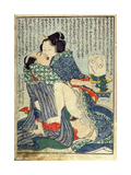 Lovers Seated with a Plant in the Background,From 'Manpoku Wago-Jin', 1821 Giclee Print by Katsushika Hokusai