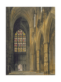 Interior View of Westminster Abbey Looking Towards the West Entrance, Plate 6 from 'Westminster… Giclee Print by Frederick Mackenzie