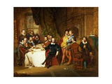 Shakespeare and His Friends at the Mermaid Tavern, 1850 Giclee Print by John Faed