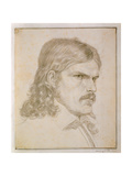 Portrait of Friedrich Ruckert, 1816 Giclee Print by Samuel Amsler