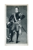 T.1560 Portrait of Sir Robert Dudley (1574-1649) Engraved by J. Brown for 'Ancient Historical… Giclee Print by George Perfect Harding